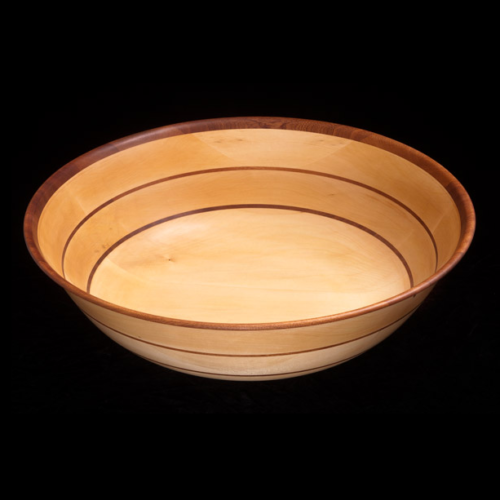 Basswood Bowl with 2 Sapele Stripes and Sapele rim