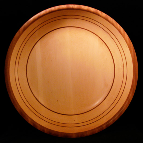 Basswood Bowl with 3 Horizontal Sapele Stripes and Sapele rim