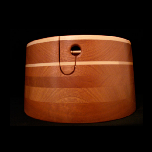 Sapele with 1 Maple Stripe and Maple Rim Double Ply