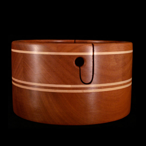 Sapele with 3 Maple Stripes Double Ply