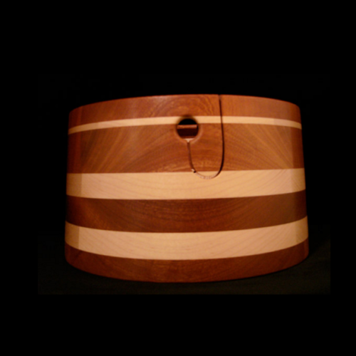 Sapele with 3 Maple Stripes Double Ply v2
