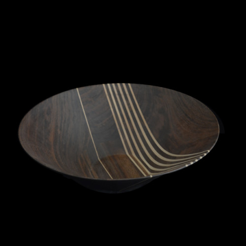 Black Walnut 7 vert Maple Stripes