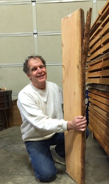 Doug Clark with Wood From Road