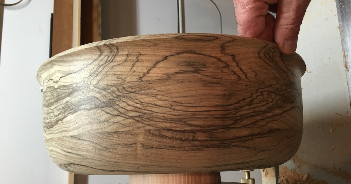 wood grain bowl